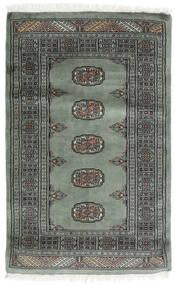 Pákistán Bokhara 3Ply Koberec 81X129 Orientální Ručně Tkaný Tmavošedý/Tmavý Turquoise (Vlna, Pákistán)
