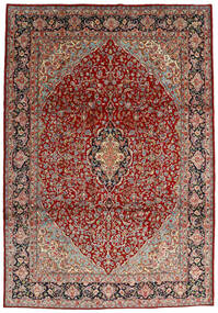 Kerman Koberec 250X359 Orientální Ručně Tkaný Tmavě Červená/Béžová Velký (Vlna, Persie/Írán)