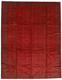 Turkaman Koberec 302X388 Orientální Ručně Tkaný Červenožlutá/Tmavě Červená Velký (Vlna, Persie/Írán)
