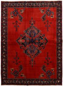 Afshar Koberec 166X228 Orientální Ručně Tkaný Tmavě Červená/Červenožlutá (Vlna, Persie/Írán)