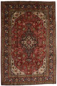 Tabriz Koberec 196X290 Orientální Ručně Tkaný Tmavě Hnědá/Tmavě Červená (Vlna, Persie/Írán)