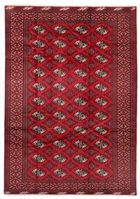 Turkaman Koberec 199X282 Orientální Ručně Tkaný Tmavě Červená/Červená (Vlna, Persie/Írán)