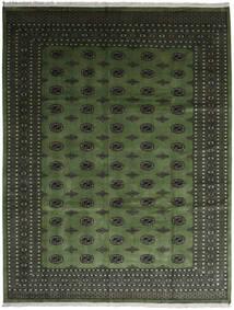 Pákistán Bokhara 2Ply Koberec 280X363 Orientální Ručně Tkaný Tmavě Zelený/Tmavošedý Velký (Vlna, Pákistán)