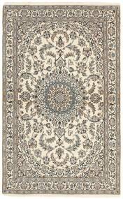 Nain 9La Koberec 115X188 Orientální Ručně Tkaný Světle Šedá/Béžová (Vlna/Hedvábí, Persie/Írán)