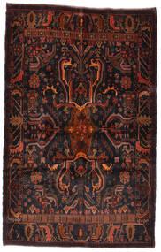 Beluch Koberec 125X195 Orientální Ručně Tkaný Černá/Tmavě Červená (Vlna, Afghánistán)