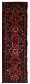 Hamedan Koberec 110X312 Orientální Ručně Tkaný Běhoun Tmavě Červená (Vlna, Persie/Írán)