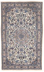 Nain Koberec 151X255 Orientální Ručně Tkaný Tmavošedý/Béžová (Vlna, Persie/Írán)