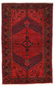 Zanjan Koberec 126X205 Orientální Ručně Tkaný Tmavě Červená/Tmavě Hnědá/Červenožlutá (Vlna, Persie/Írán)