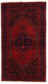 Hamedan Koberec 138X240 Orientální Ručně Tkaný Tmavě Červená/Červenožlutá (Vlna, Persie/Írán)
