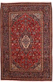 Keshan Koberec 198X302 Orientální Ručně Tkaný Tmavě Červená (Vlna, Persie/Írán)