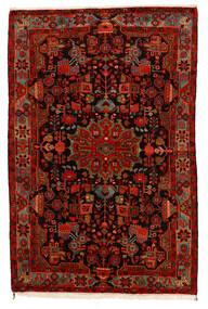 Nahavand Old Koberec 159X235 Orientální Ručně Tkaný Tmavě Hnědá/Červenožlutá (Vlna, Persie/Írán)