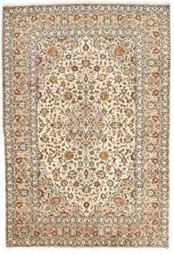 Keshan Koberec 200X295 Orientální Ručně Tkaný Béžová/Tmavě Hnědá (Vlna, Persie/Írán)