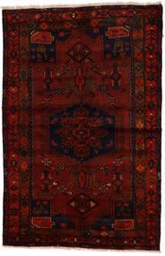 Zanjan Koberec 137X212 Orientální Ručně Tkaný Tmavě Hnědá/Tmavě Červená (Vlna, Persie/Írán)