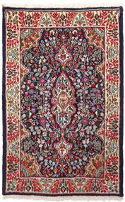 Kerman Koberec 91X146 Orientální Ručně Tkaný Tmavě Fialová/Tmavě Červená (Vlna, Persie/Írán)
