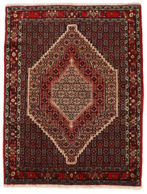 Senneh Koberec 130X168 Orientální Ručně Tkaný Tmavě Červená/Světle Hnědá (Vlna, Persie/Írán)