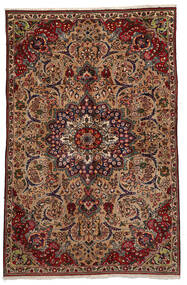 Tabriz Koberec 151X233 Orientální Ručně Tkaný Tmavě Hnědá/Světle Hnědá (Vlna, Persie/Írán)