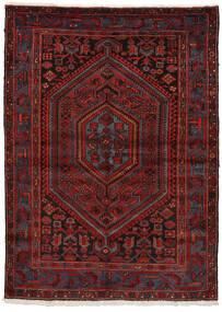 Zanjan Koberec 150X207 Orientální Ručně Tkaný Tmavě Červená/Tmavě Hnědá (Vlna, Persie/Írán)
