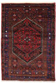 Zanjan Koberec 138X205 Orientální Ručně Tkaný Tmavě Červená/Tmavě Hnědá (Vlna, Persie/Írán)