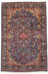 Kerman Koberec 186X288 Orientální Ručně Tkaný Tmavě Červená/Černá (Vlna, Persie/Írán)