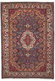 Kerman Koberec 204X296 Orientální Ručně Tkaný Tmavě Červená/Tmavošedý (Vlna, Persie/Írán)