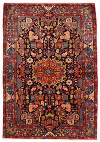 Nahavand Old Koberec 160X230 Orientální Ručně Tkaný Tmavě Červená/Červenožlutá (Vlna, Persie/Írán)