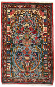 Bakhtiar Collectible Koberec 103X158 Orientální Ručně Tkaný Tmavě Hnědá/Tmavý Turquoise (Vlna, Persie/Írán)