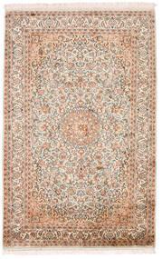 Kashmir Čistá Hedvábí Koberec 98X152 Orientální Ručně Tkaný Béžová/Tmavě Hnědá (Hedvábí, Indie)