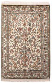 Kashmir Čistá Hedvábí Koberec 64X96 Orientální Ručně Tkaný Světle Šedá/Béžová (Hedvábí, Indie)