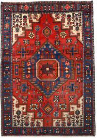 Nahavand Koberec 133X193 Orientální Ručně Tkaný Černá/Tmavě Červená (Vlna, Persie/Írán)