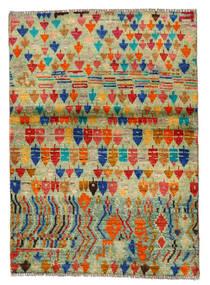 Moroccan Berber - Afghanistan Koberec 96X136 Moderní Ručně Tkaný Světle Zelená/Červená (Vlna, Afghánistán)