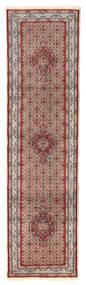 Moud Koberec 76X292 Orientální Ručně Tkaný Běhoun Tmavě Červená/Béžová (Vlna/Hedvábí, Persie/Írán)