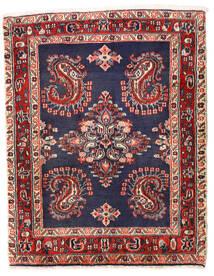Sarough Koberec 75X96 Orientální Ručně Tkaný Tmavě Fialová/Tmavě Červená (Vlna, Persie/Írán)