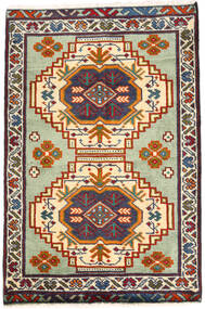 Turkaman Koberec 59X89 Orientální Ručně Tkaný Tmavošedý/Béžová (Vlna, Persie/Írán)
