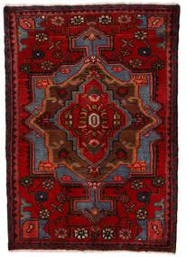 Nahavand Koberec 68X100 Orientální Ručně Tkaný Tmavě Červená/Tmavě Hnědá (Vlna, Persie/Írán)