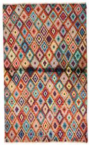 Moroccan Berber - Afghanistan Koberec 85X142 Moderní Ručně Tkaný Tmavě Hnědá/Červenožlutá (Vlna, Afghánistán)