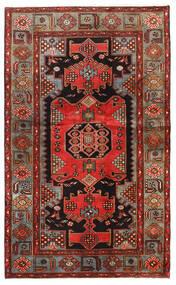 Hamedan Koberec 128X209 Orientální Ručně Tkaný Tmavě Hnědá/Červenožlutá (Vlna, Persie/Írán)