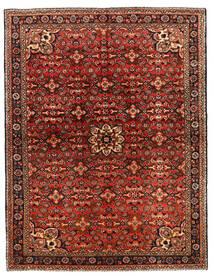 Hosseinabad Koberec 149X218 Orientální Ručně Tkaný Tmavě Hnědá/Tmavě Červená (Vlna, Persie/Írán)