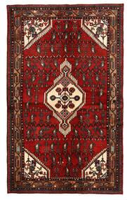 Hamedan Koberec 135X221 Orientální Ručně Tkaný Tmavě Červená/Tmavě Hnědá (Vlna, Persie/Írán)