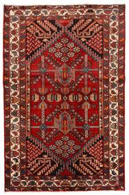 Rudbar Koberec 130X200 Orientální Ručně Tkaný Tmavě Červená/Červenožlutá (Vlna, Persie/Írán)