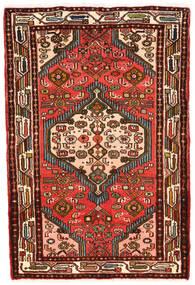 Hamedan Koberec 82X120 Orientální Ručně Tkaný Tmavě Hnědá/Červená (Vlna, Persie/Írán)