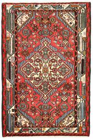 Hamedan Koberec 82X125 Orientální Ručně Tkaný Černá/Tmavě Hnědá (Vlna, Persie/Írán)