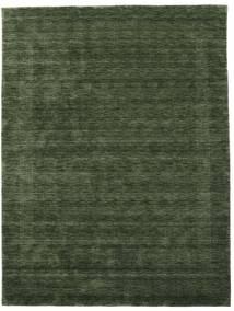 Handloom Gabba - Tmavě Zelená Koberec 210X290 Moderní Tmavě Zelený (Vlna, Indie)