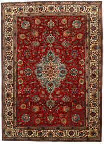 Tabriz Koberec 217X302 Orientální Ručně Tkaný Tmavě Hnědá/Tmavě Červená (Vlna, Persie/Írán)