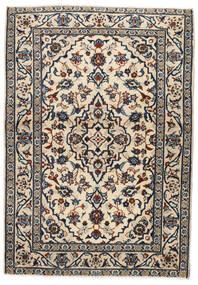 Keshan Koberec 103X146 Orientální Ručně Tkaný Béžová/Černá/Světle Šedá (Vlna, Persie/Írán)