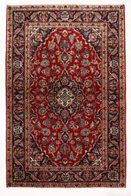 Keshan Koberec 97X147 Orientální Ručně Tkaný Tmavě Červená/Béžová (Vlna, Persie/Írán)