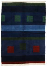 Gabbeh Indické Koberec 144X197 Moderní Ručně Tkaný Tmavě Modrý (Vlna, Indie)