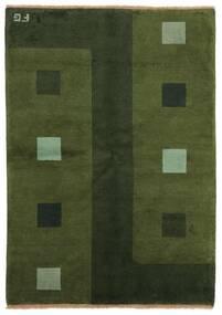 Gabbeh Indické Koberec 139X199 Moderní Ručně Tkaný Tmavě Zelený (Vlna, Indie)