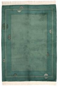 Čína 90 Line Koberec 168X229 Orientální Ručně Tkaný Tmavě Zelený/Tmavý Turquoise (Vlna, Čína)