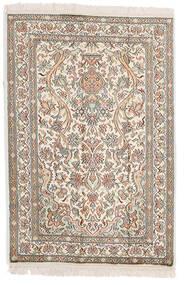 Kashmir Čistá Hedvábí Koberec 64X95 Orientální Ručně Tkaný Světle Šedá/Béžová (Hedvábí, Indie)