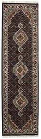 Tabriz Royal Koberec 84X302 Orientální Ručně Tkaný Běhoun Tmavě Hnědá/Světle Šedá ( Indie)